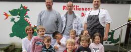 Familienzentrum Drachenhöhle bedankt sich bei Malerbetrieb Dirk Borsch